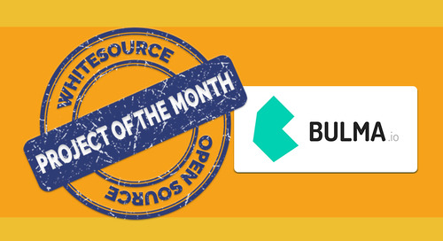 Bulma- WhiteSource's Open Source Project of the Month for February 2019