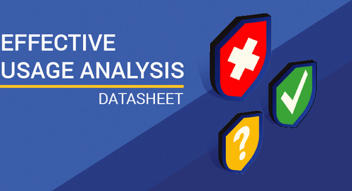 Datasheet: Effective Usage Analysis