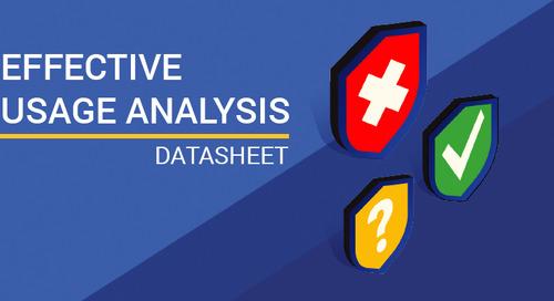 Datasheet: Effective Usage Analysis