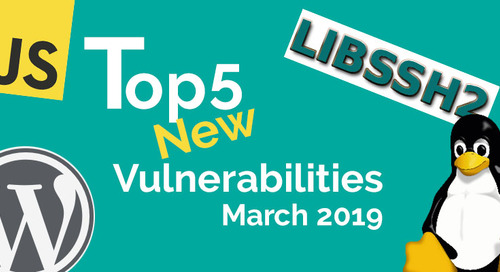 Top 5 New Open Source Security Vulnerabilities in March 2019