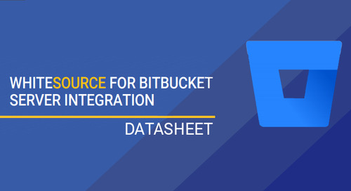WhiteSource For Bitbucket Server Integration Datasheet