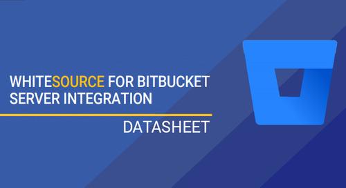 WhiteSource For Bitbucket Server Integration Datasheet
