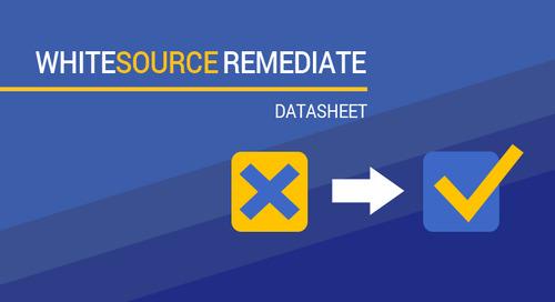 WhiteSource Remediate Datasheet