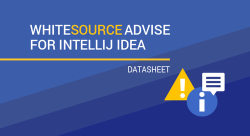WhiteSource Advise for IntelliJ IDEA Datasheet