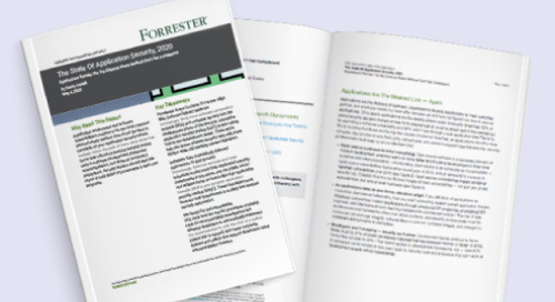Forrester's State of Application Security, 2020: Key Takeaways