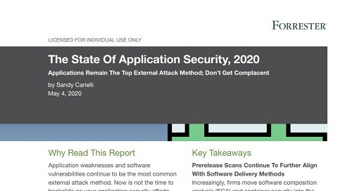Forrester's The State Of Application Security 2020
