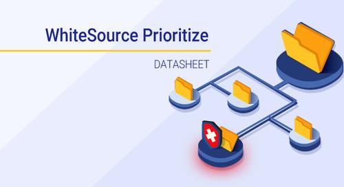 Datasheet: WhiteSource Prioritize