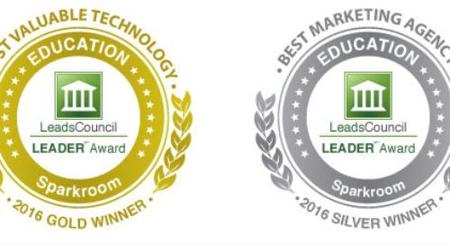 Sparkroom Wins Gold & Silver LEADER Awards