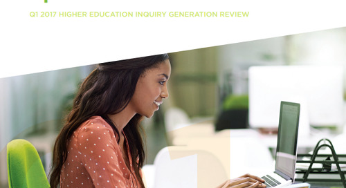 Q1 2017 Higher Education Inquiry Generation Review