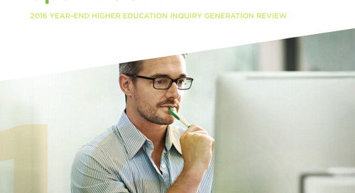 2016 Year-End Higher Education Inquiry Generation Review