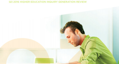 Q3 2016 Higher Education Inquiry Generation Review
