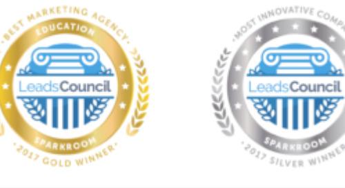 Sparkroom Named Best Agency & Top Innovator in Education