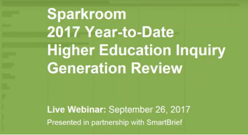 2017 Year-to-Date Higher Education Inquiry Generation Review Webinar
