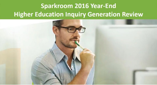 Sparkroom 2016 Year-End Higher Education Inquiry Generation Review Webinar