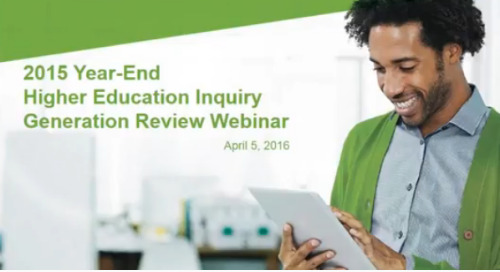 2015 Year-End Higher Education Inquiry Generation Review