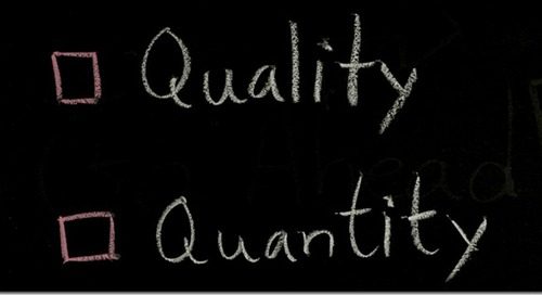 On Quality vs. Quantity (or How to Get Your Boss off Your Back)