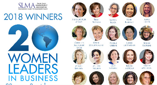 The Sales Lead Management Association Announces the Winners of Its '20 Women to Watch' Annual Recognition Program