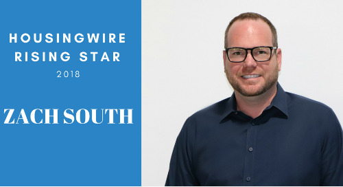 Zach South of Best Rate Referrals Earns Spot On HousingWire 2018 Rising Star List