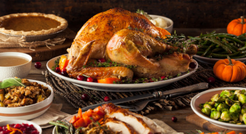 Happy Thanksgiving: It's Not Just Turkey at the Center of This Meal