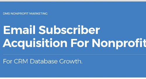 Email Subscriber Acquisition For Nonprofits
