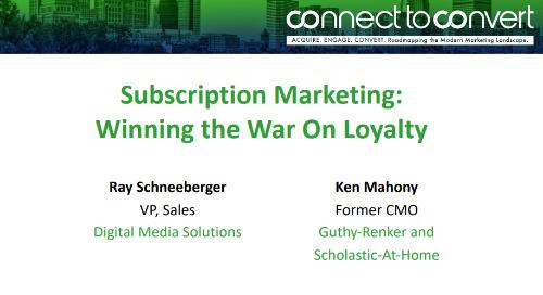 Subscription Marketing: Winning the War On Loyalty