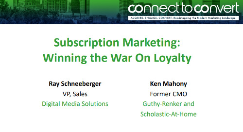 Subscription Marketing: Winning the War On Loyalty