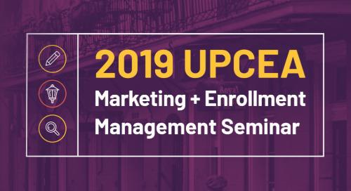 DMS Announces Sponsorship Of 2019 UPCEA Marketing And Enrollment Management Seminar