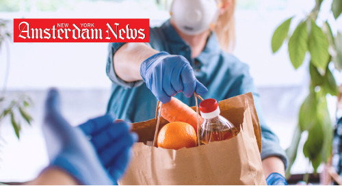 DMS Featured In The New York Amsterdam News: After Partnering With NY State Senator Benjamin To Feed 400 Families