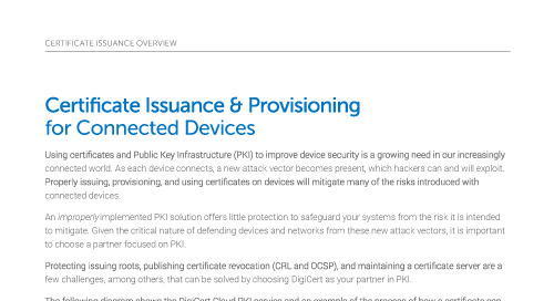 Certificate Issuance & Provisioning for Connected Healthcare Devices