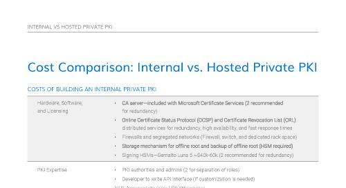 Cost Comparison: Internal vs. Hosted Private PKI