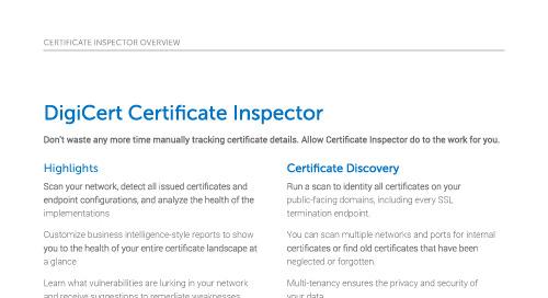 Certificate Inspector Overview