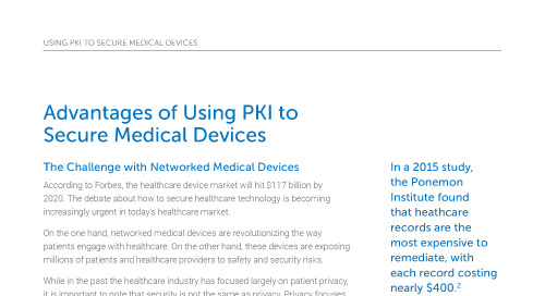 Advantages of Using PKI to Secure Medical Devices