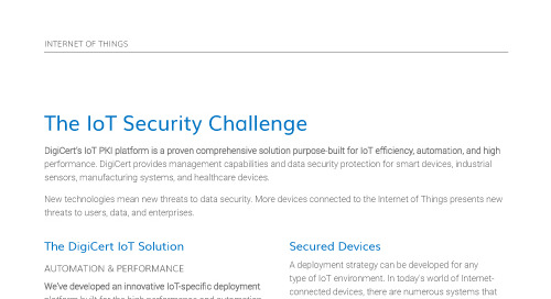 The IoT Security Challenge