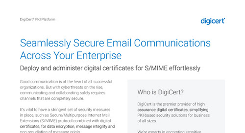 DigiCert PKI Platform Secure Email