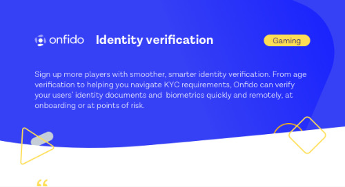 Datasheet: Onfido for Gaming