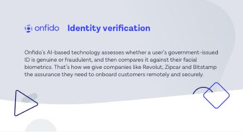 Onfido Identity Verification Datasheet
