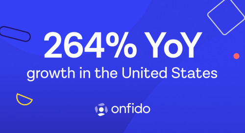 Onfido sees record adoption of its identity verification technology announcing 264% year-over-year US growth