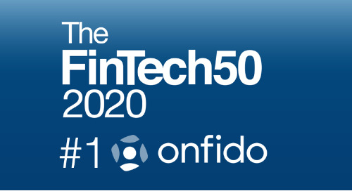 The FinTech 50 lists Onfido #1 for the second year in a row