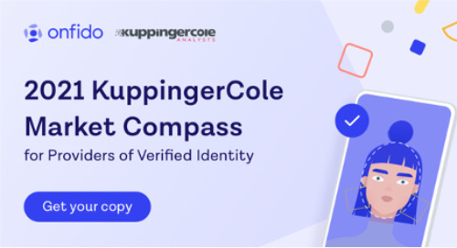 Onfido receives 'Outstanding in Biometric Data Analysis' distinction in Kuppingercole Market Compass for Providers of Verified Identity