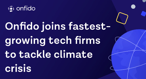 Onfido joins UK tech leaders to fight climate crisis in The Tech Zero taskforce