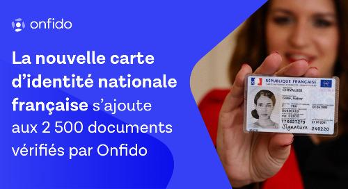 Onfido, premier PVID à intégrer la nouvelle carte d'identité nationale française