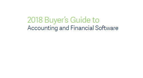 2018 Buyer's Guide To Accounting And Financial Software