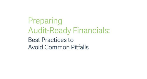 Preparing Audit Ready Financials
