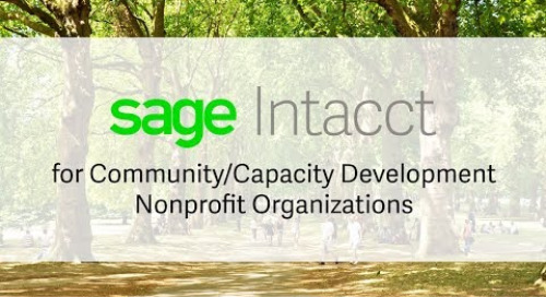 Sage Intacct for Community and Capacity Development Nonprofits