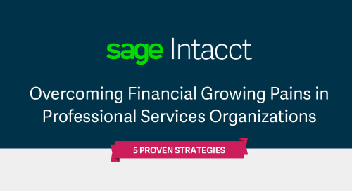 5 Strategies to Overcoming Financial Growing Pains in Professional Services Organizations Infographic