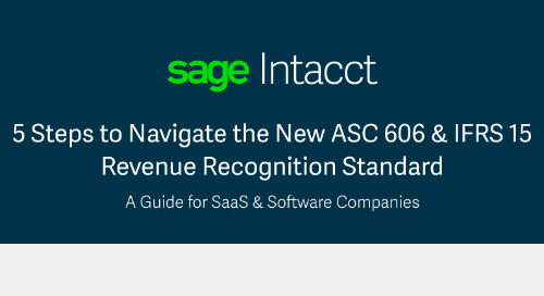 5 Steps to Navigating the New ASC 606 & IFRS 15 Revenue Recognition Standards