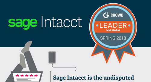 Sage Intacct is #1 in Customer Satisfaction - G2 Crowd Spring 2018