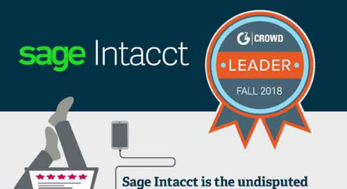 Sage Intacct is #1 in Customer Satisfaction - G2 Crowd Fall 2018