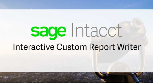 Sage Intacct Interactive Custom Report Writer
