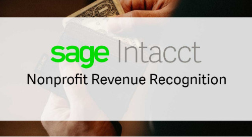 Sage Intacct Nonprofit Revenue Recognition